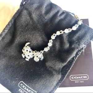 COACH Dog charm lanyard keychain